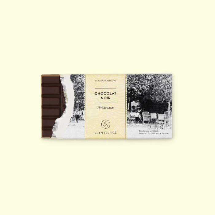 Dark chocolate bar 75% cocoa, Jean Sulpice