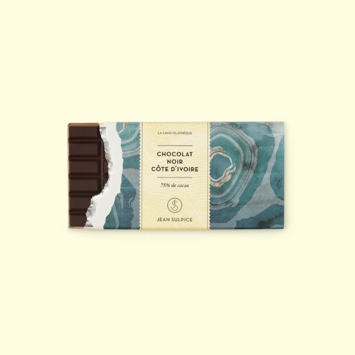 Dark chocolate bar Ivory Coast 75% cocoa, Jean Sulpice
