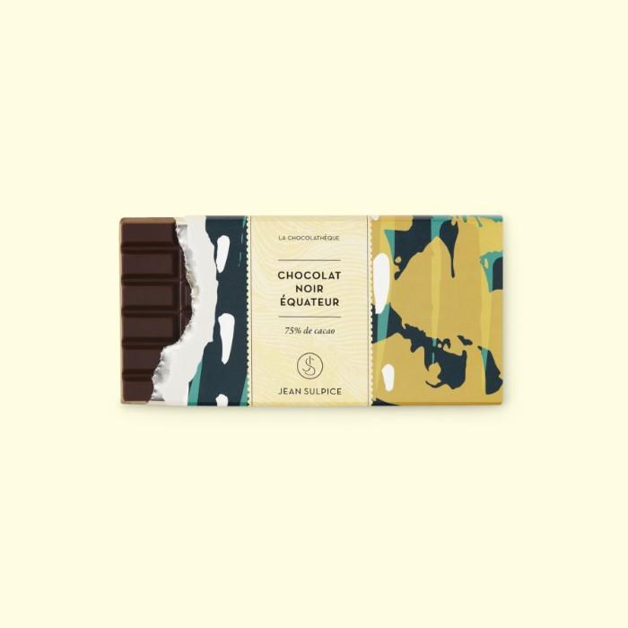 Tablette chocolat noir Equateur 75% cacao, Jean Sulpice