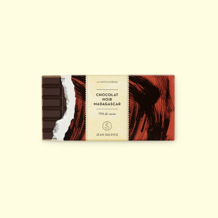 tablette chocolat noir madagascar 75% cacao, Jean Sulpice
