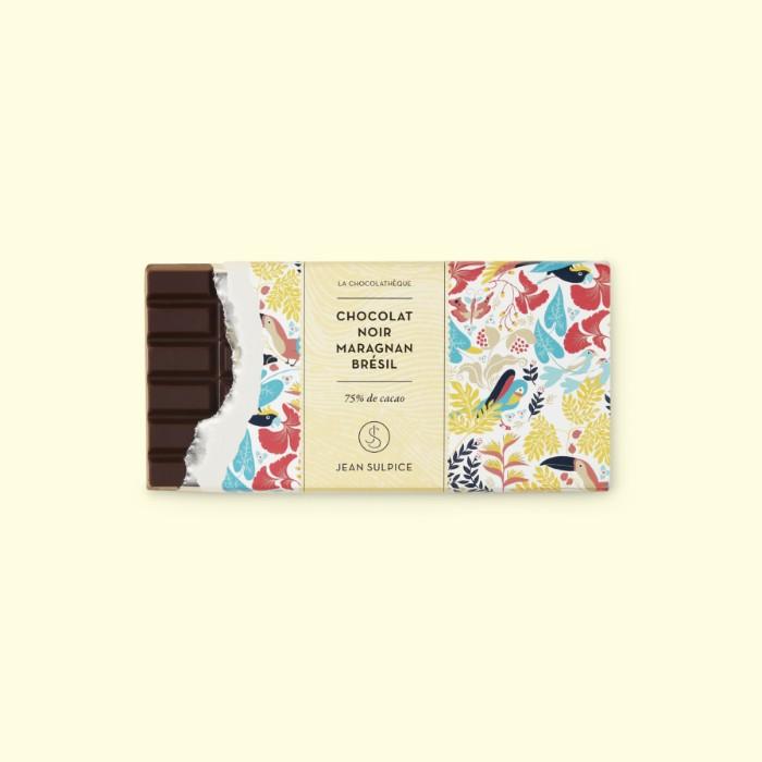 Dark chocolate bar Maragnan Brazil 75%, Jean Sulpice