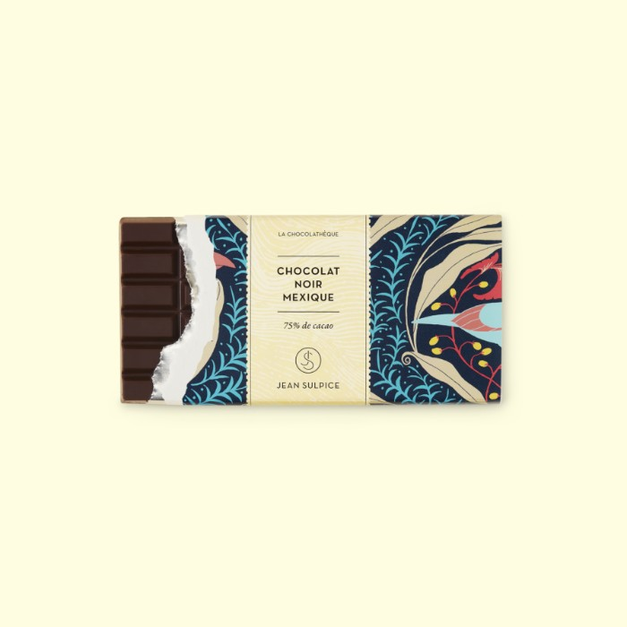 Dark chocolate bar mexico 75% cocoa