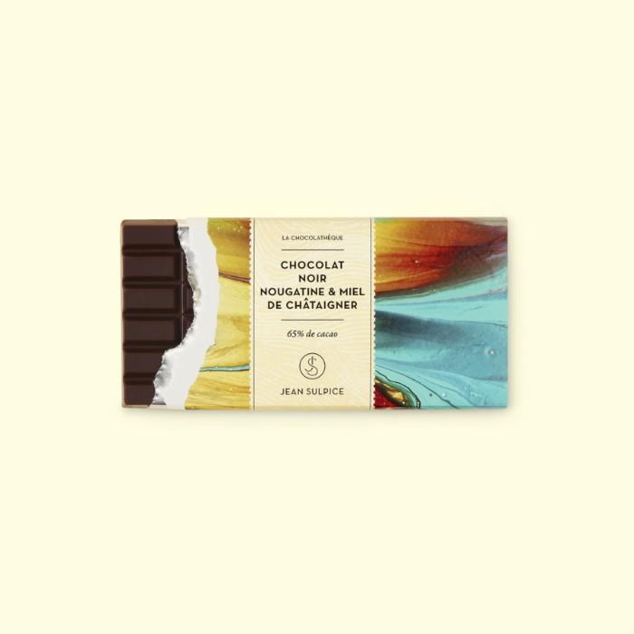 Dark chocolate bar, Nougatine and chesnut honey, Jean Sulpice