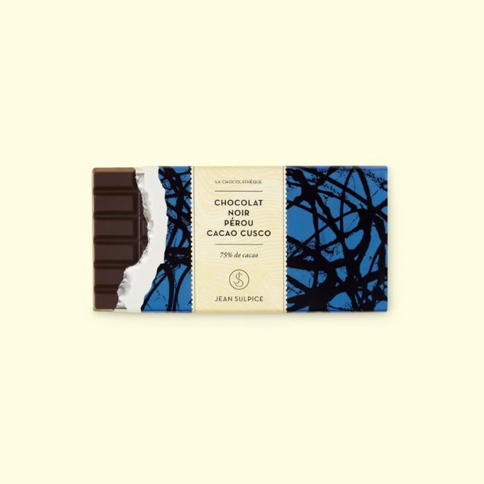 tablette chocolat noir Pérou, cacao Cusco