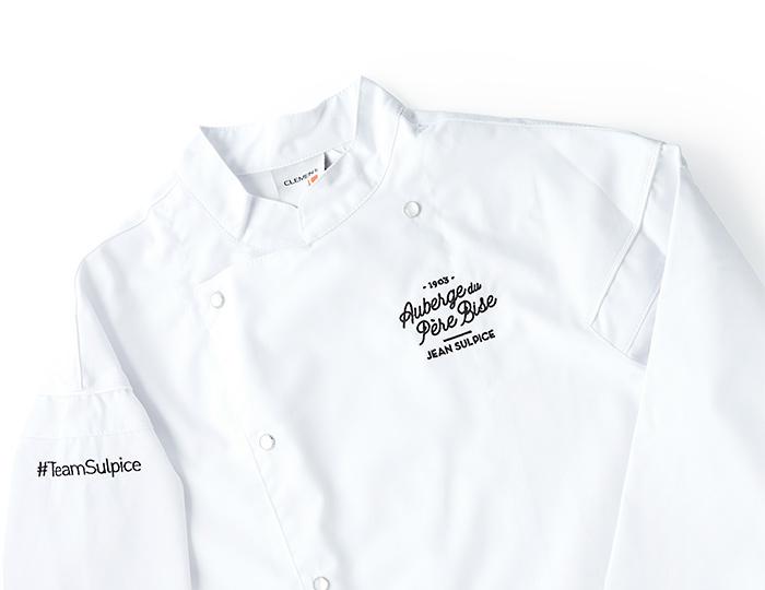 Veste de cuisine blanche pour enfant