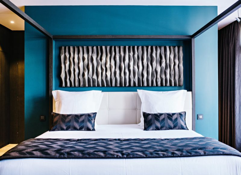 grand lit de la suite, hôtel 5 étoiles