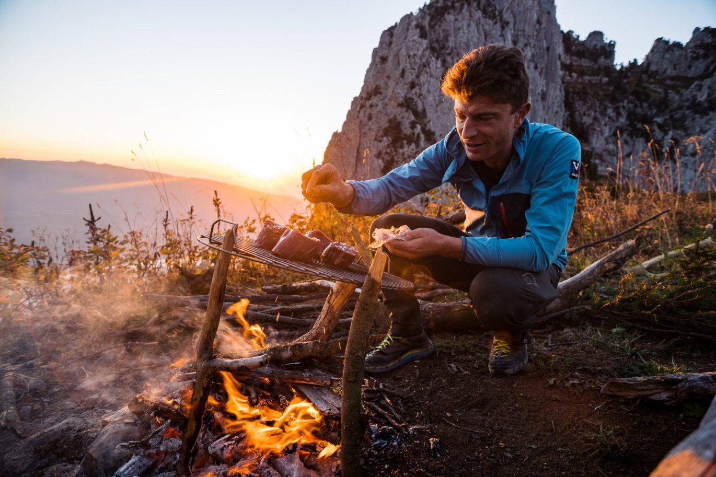 Feu de camp en montagne avec Jean Sulpice