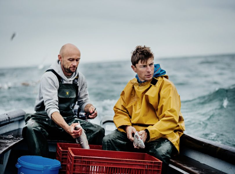 Jean Sulpice et le pêcheur du lac d'Annecy