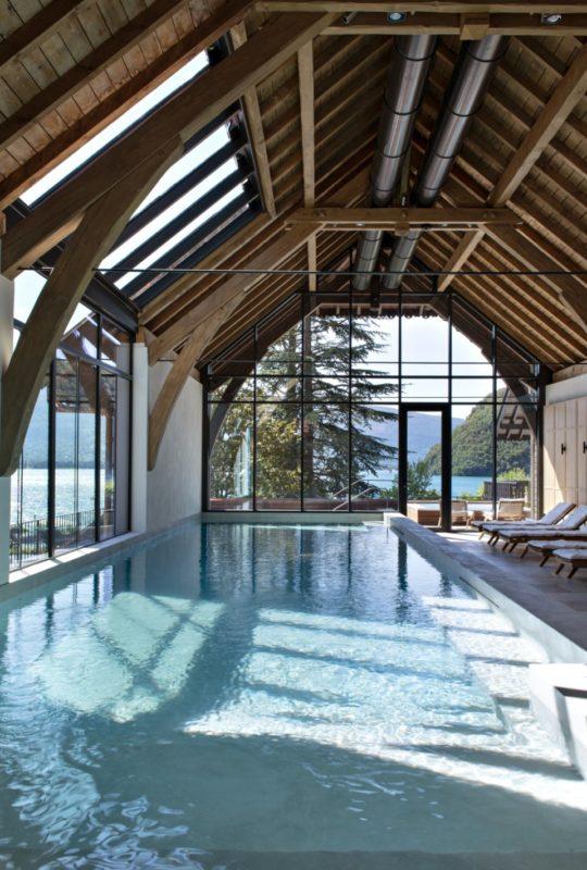 piscine spa vue lac Annecy