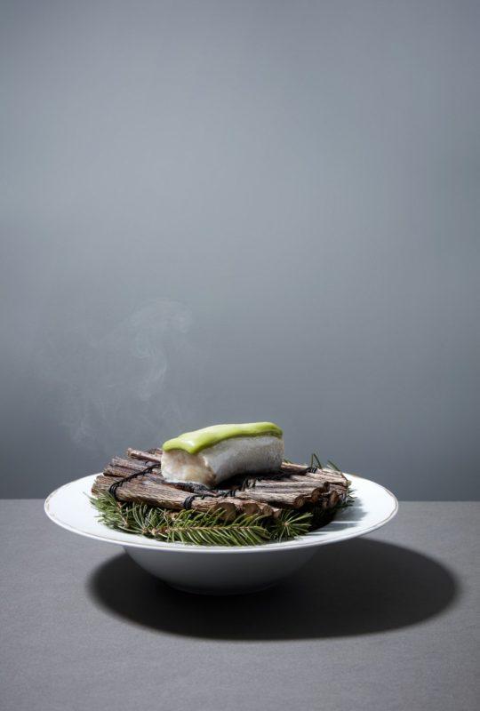 Recette gastronomique omble épicea de Jean Sulpice