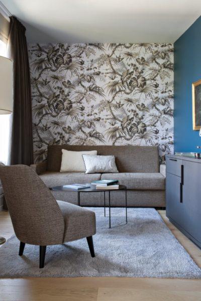 salon dans la chambre de luxe