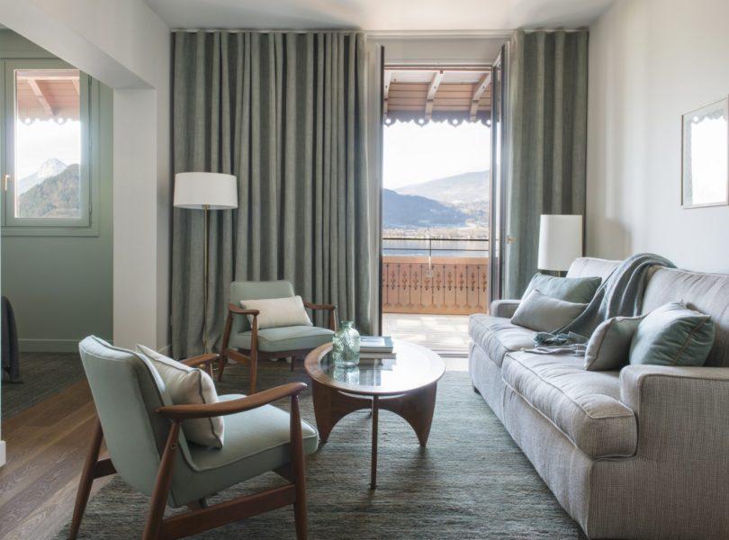 suite de luxe avec vue sur le lac d'Annecy