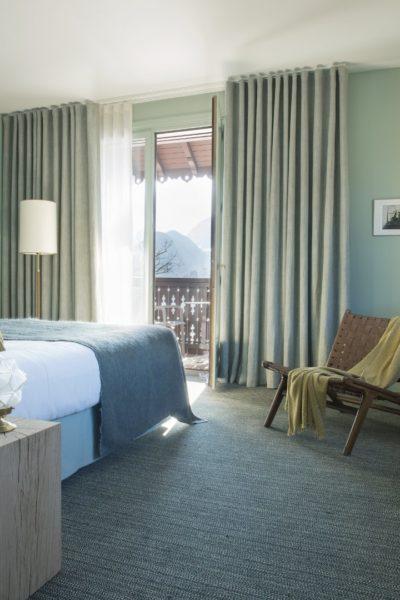 Chambre d'hôtel 5 étoiles vue Lac d'Annecy